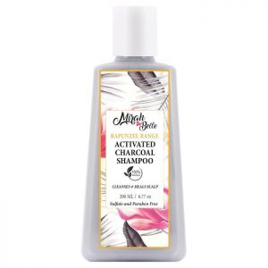Activated Charcoal, Macadamia Nut - Natural Scalp Cleansing Shampoo