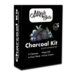 Charcoal Facial Kit - Blackheads & Clogged Pores - Certified & Organic - Sulfate & Paraben Free