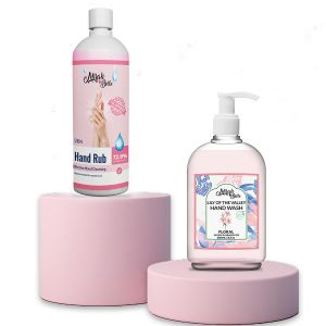 Hand Rub Sanitizer & Lily of the Valley Hand Wash (500ml + 250ml)