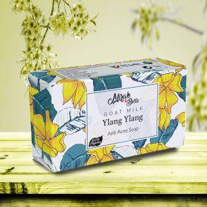 Goat Milk - Ylang Ylang Anti Acne Soap Bar - Paraben Free (125 Gm)