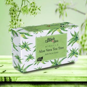 Aloe Vera, Tea Tree Anti Acne Soap Bar - Organic, Handmade