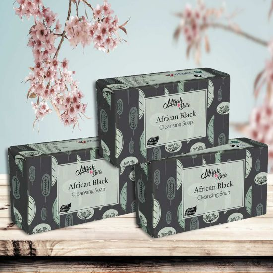 Mirah Belle African Black Handmade Soap with Shea Butter