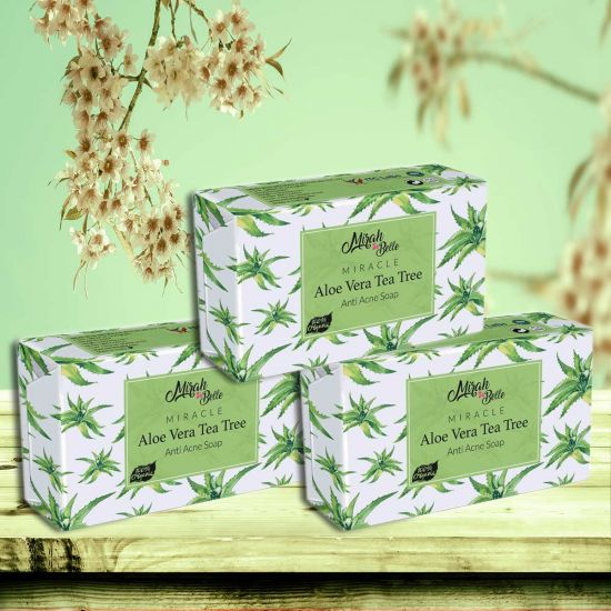Mirah Belle Aloe Vera Tea Tree Anti Acne Handmade Soap