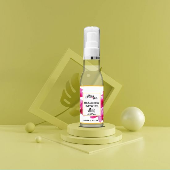 Sweet Almond & Shea Butter - Natural Body Lotion - Dry & Cracked Skin - Vegan & Paraben Free