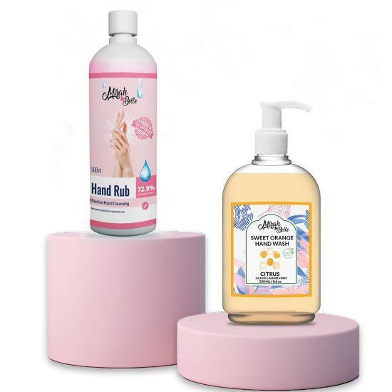 Sweet Orange Hand Wash & Sanitizer Gel Combo (250ml+500ml)
