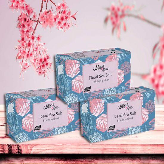 Mirah Belle Dead Sea Salt Exfoliating Handmade Soap