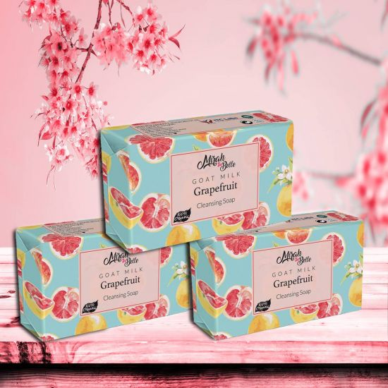 Mirah Belle Goat Milk Grapefruit Handmade Cleansing Soap