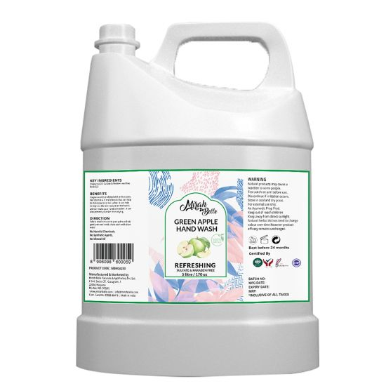 Green Apple Hand Wash Can (5 LTR) -  Bulk Pack for Refill - (5 Liter)