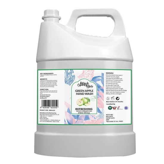 Green Apple - Natural Hand Wash (2 Ltr) - Sulfate & Paraben Free