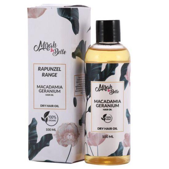 Macadamia Nut, Geranium, Argan - Natural Dry Frizzy Hair Oil