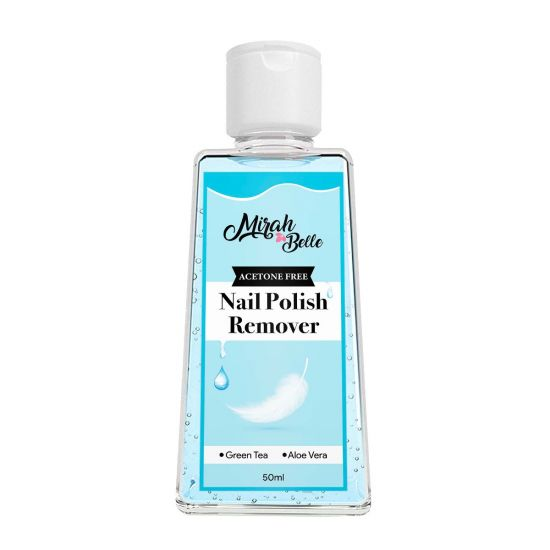 Mirah Belle - Nail Polish Remover (50 ML) - Acetone Free - Vegan, Natural, Sulfate and Paraben Free