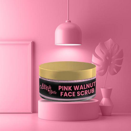 Pink Walnut Face Scrub - Organic, Vegan & Cruelty Free