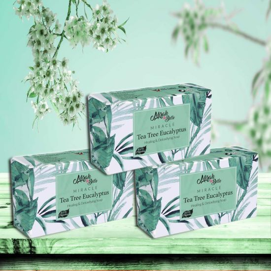 Tea Tree – Eucalyptus Healing Soap Bar (Pack of 3)