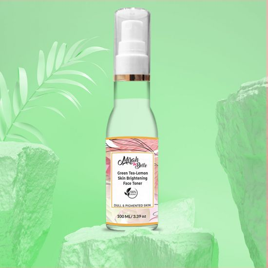 Green Tea, Lemon - Skin Brightening Face Toner